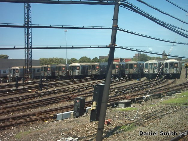 B And D Trains At Coney Island Yard