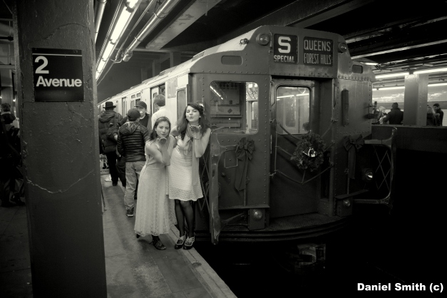 Vintage Train With Gals Blowing Kisses #2