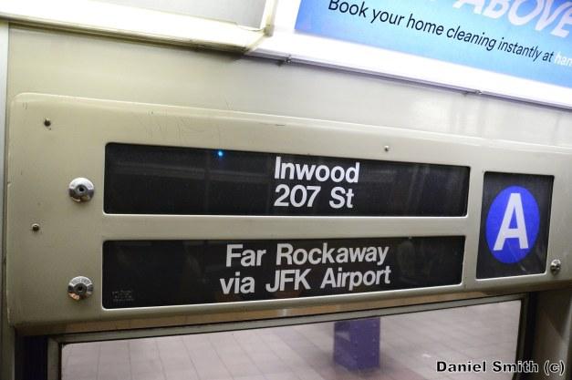 R68 A Train Interior Rollsign