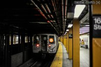 R68 D Train Leaves 161st Street-Yankees Stadium