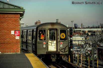 R68 N Train Leaving Coney Island-Stillwell Avenue
