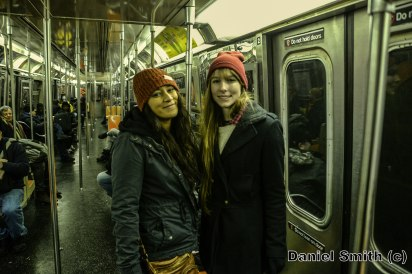 Women On The D Train During Winter Storm Jonas
