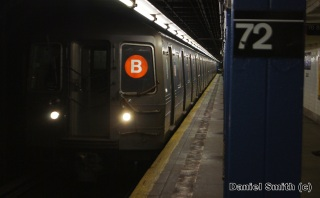 R68A B Train Approaching 72nd Street