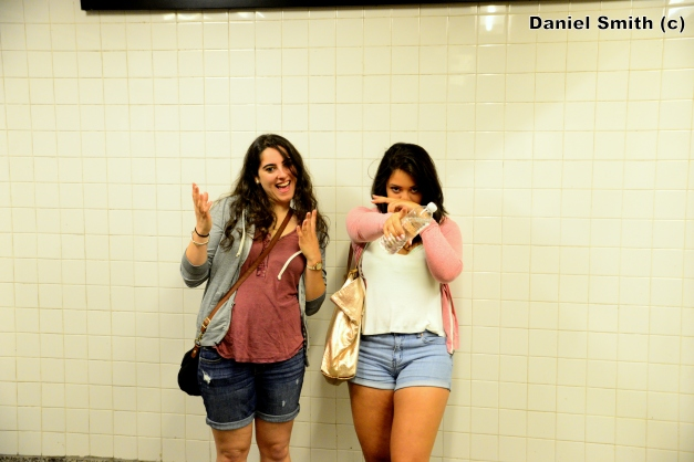 Women At Yankees Stadium - D Train Platform