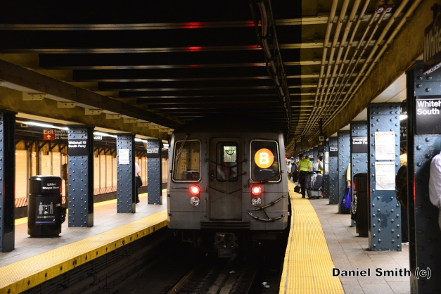 R68A B Train Leaves Whitehall Street