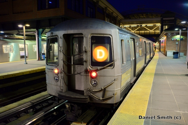 R68 (D) Train At Coney Island-Stillwell Avenue
