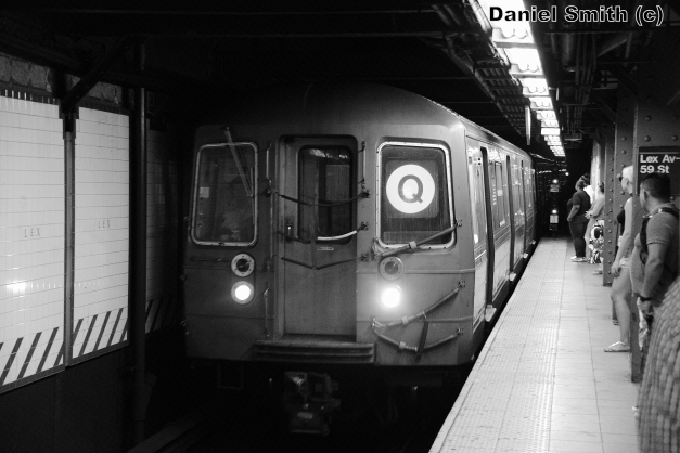 R68 (Q) Train At Lexington Avenue-59th Street