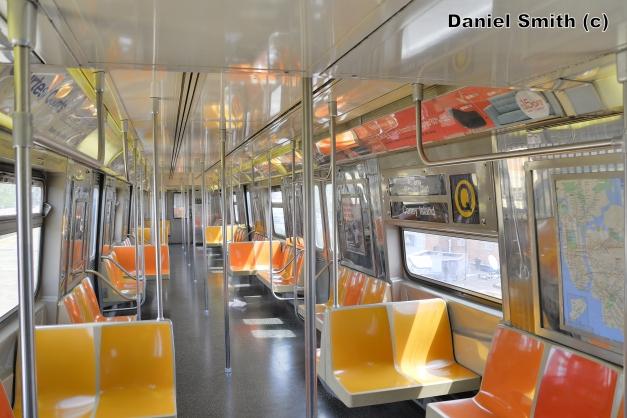 R68 (Q) Train Interior