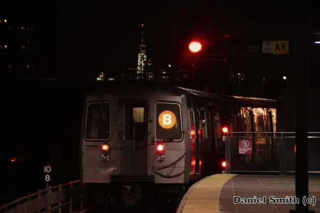 R68A B Train Leaves Coney Island