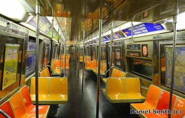 R68 B Train Interior