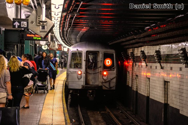 R68 2742 On The D Train Leaves 125th Street