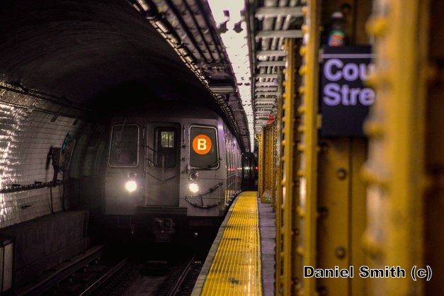 R68A B Train Enters Court Street