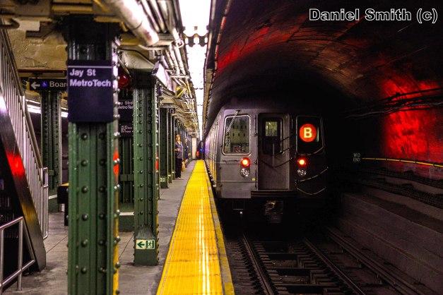 R68A B Train Leaves Jay Street
