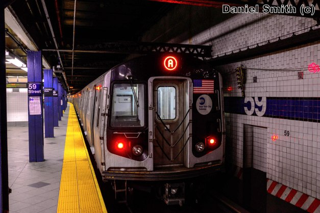 R160 A Train At 59th Street