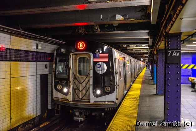 R160 B Train At 7th Avenue-53rd Street