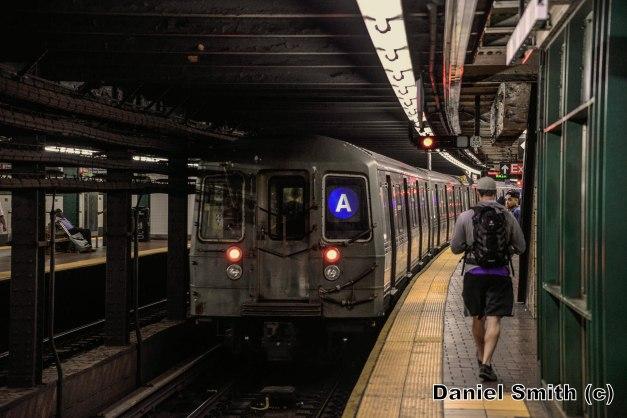 R68 A Train Leaves 125th Street