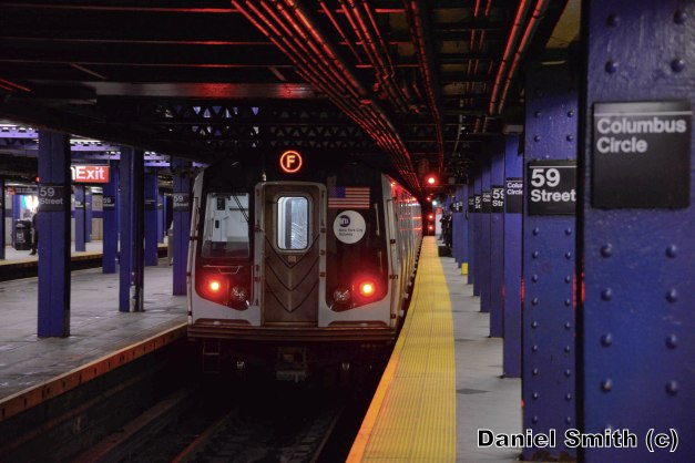 R160 F Train Leaves 59th Street