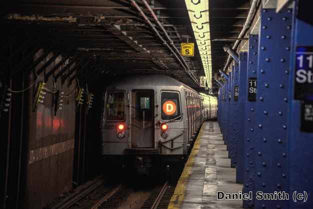 R68 D Train Leaves 116th Street