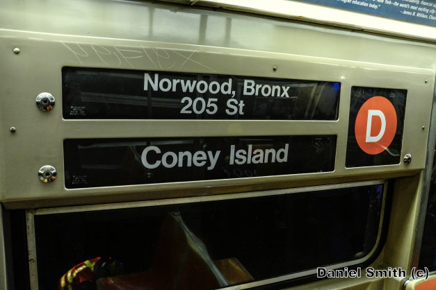 R68 2578 On The (D) Train Interior Rollsign