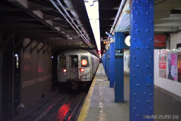 R68 (D) Train At West 116th Street
