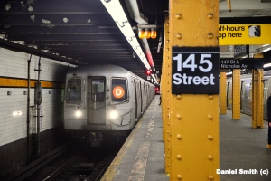 R68 D Train At 145th Street