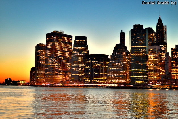 Lower Manhattan During Sunset