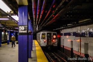 R68 D Train Leaves 59th Street