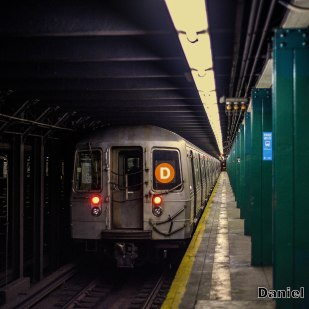 R68 (D) Train At 135th Street