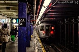 R68 B Train Leaves 103rd Street