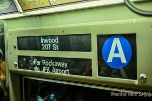 R68 A Train Interior Rollsign