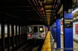 R46 F Train Leaves Delancey Street