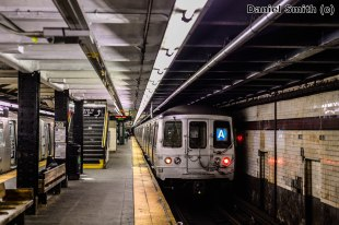 R46 A Train Leaves 168th Street