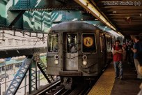 R68 N Train Approaching Queensboro Plaza