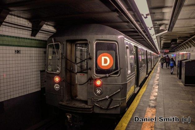 R68 D Train At 23rd Street