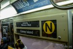 R68 (N) Train Interior Rollsign