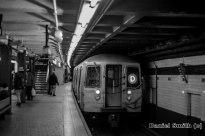 R68 (D) Train Leaving 125th Street