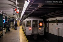 R68 (D) Train Leaving 125th Street