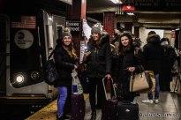 Ladies At Essex Street (M Train In Background)