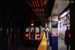 R142A Train Leaves Bleecker Street