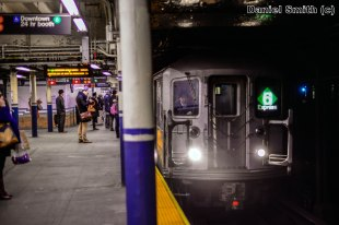 R62A Train Approaching Bleecker Street