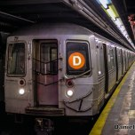 R68 (D) Train At Norwood-205th Street