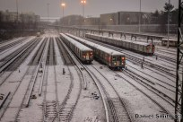 R68A B Trains At Concourse Yard During The Snow