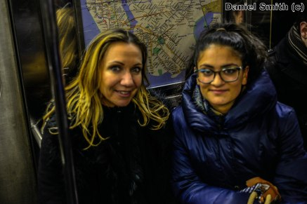 Mother And Daughter on the 1 Train