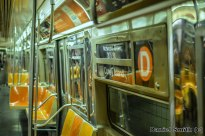 Westinghouse R68 (D) Train Interior