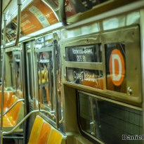 Westinghouse R68 (D) Train Interior