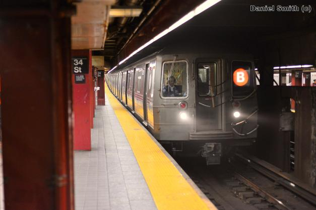 R68 B Train At 34th Street