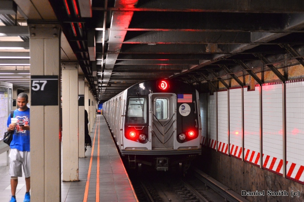 R160B Q Train Leaves 57th Street