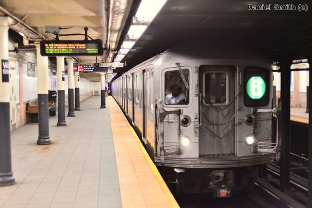 R62A 6 Train Arriving Into Wall Street