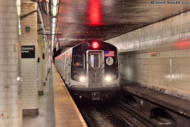 R160A-1 M Train At Chambers Street