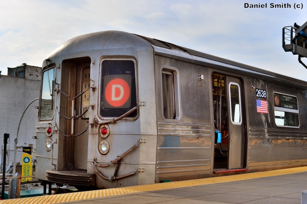R68 D Train At Coney Island-Stillwell Avenue